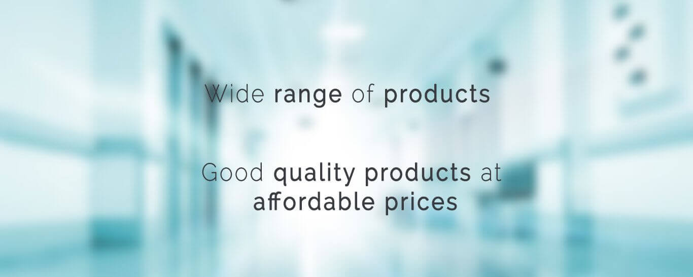 Wide range of products, Good quality products at affordable prices