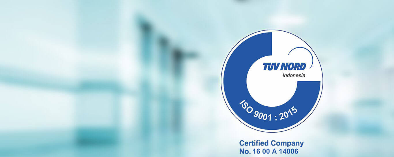 ENDO Indonesia is a TUV Nord ISO 9001: 2008 cartified company