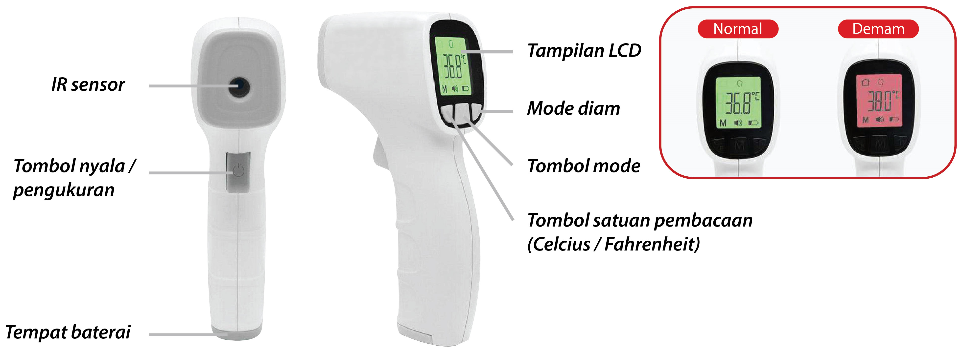 ENDO Non-contact Infrared Thermometer EI.TM