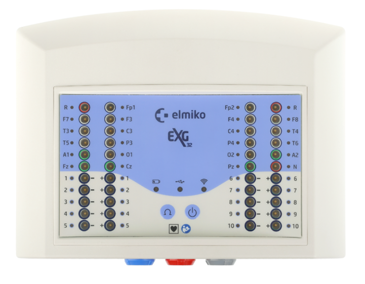 ELMIKO EXG with Brain mapping 32 channels EEG